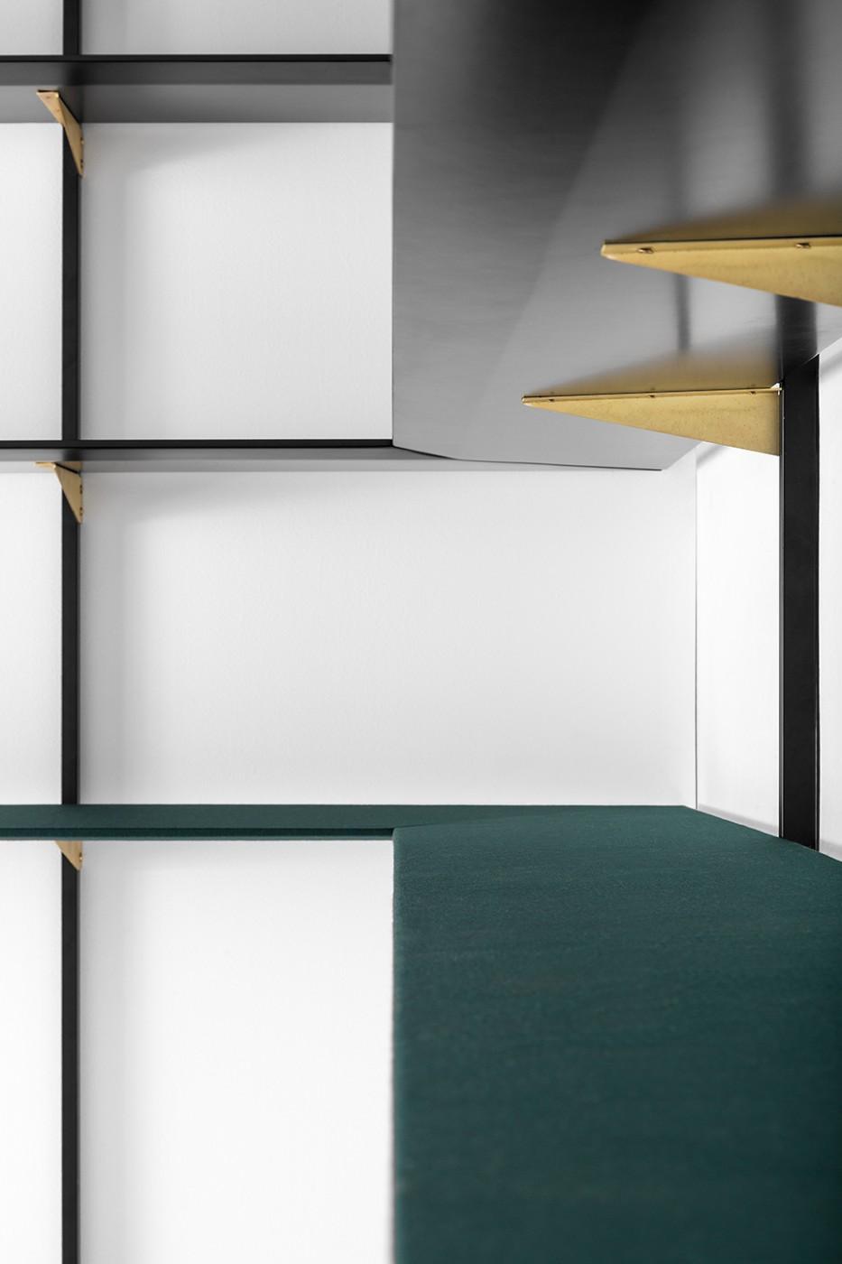 Librerie studio angolo studio soggiorno libreria per for Design seminterrato non finito
